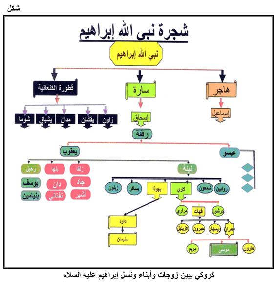 شجرة نبي الله ابراهيم  عليه السﻻم Fig01